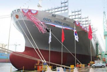 OOCL bautiza la primera nave en el mundo en traspasar la barrera de los 21.000 TEUs